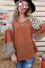Leopard Colorblock Sleeve
