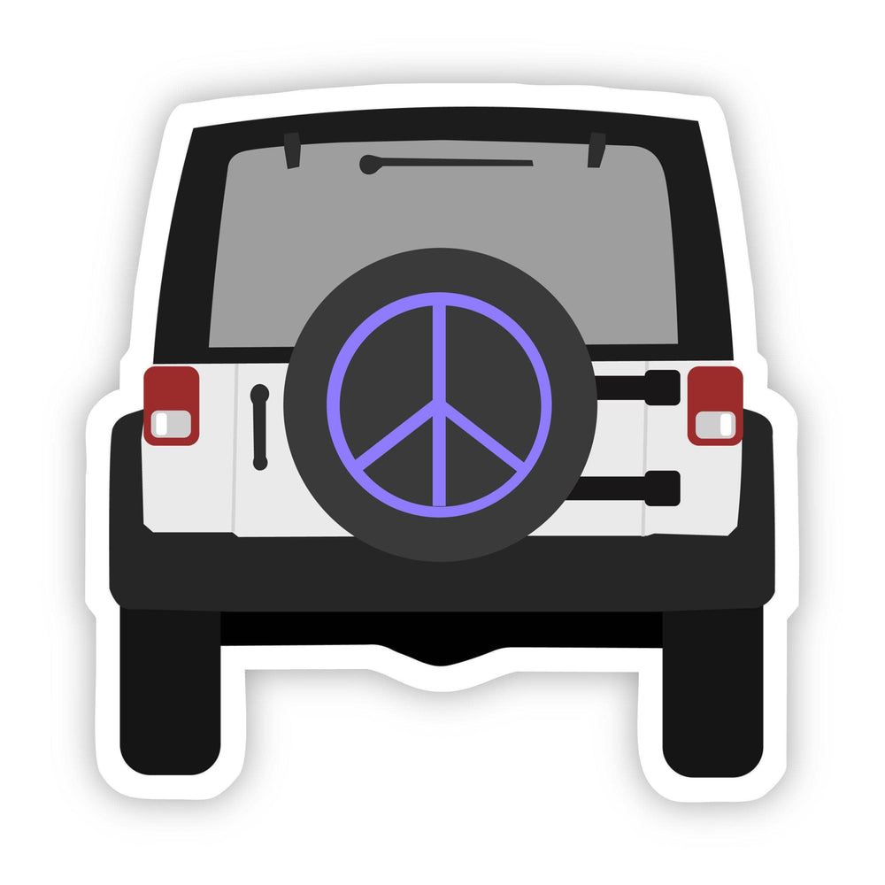 Peace Sign Jeep Sticker