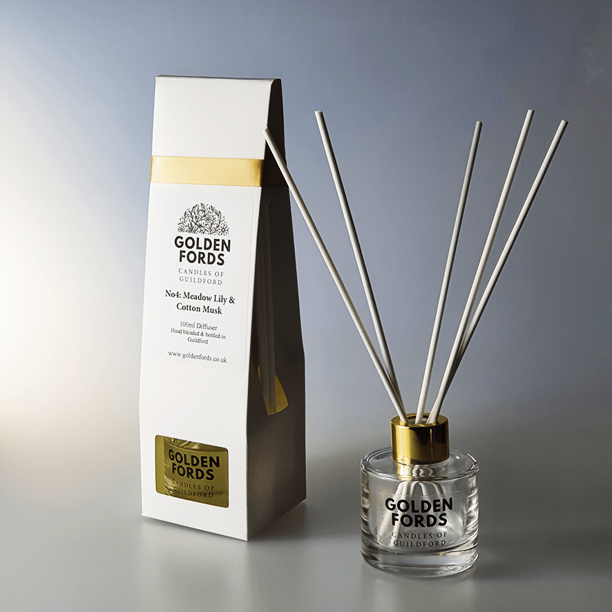 Golden Fords Diffuser Meadow Lily & Cotton Musk Reed Diffuser