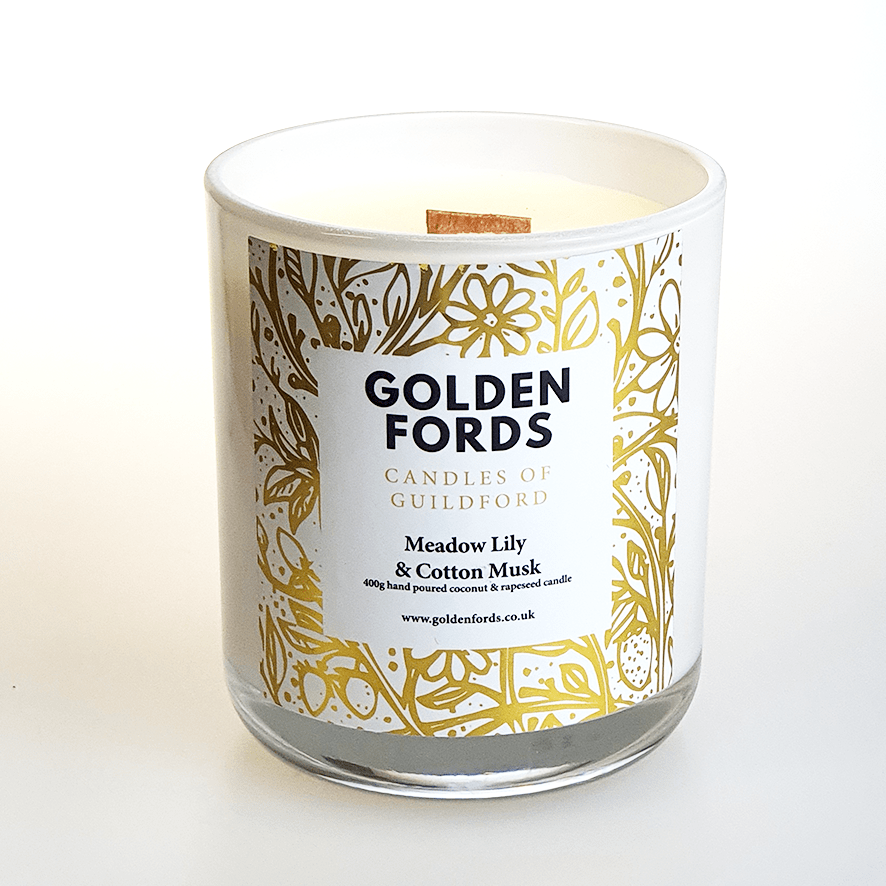 Golden Fords Candle Meadow Lily & Cotton Musk - 400g Candle