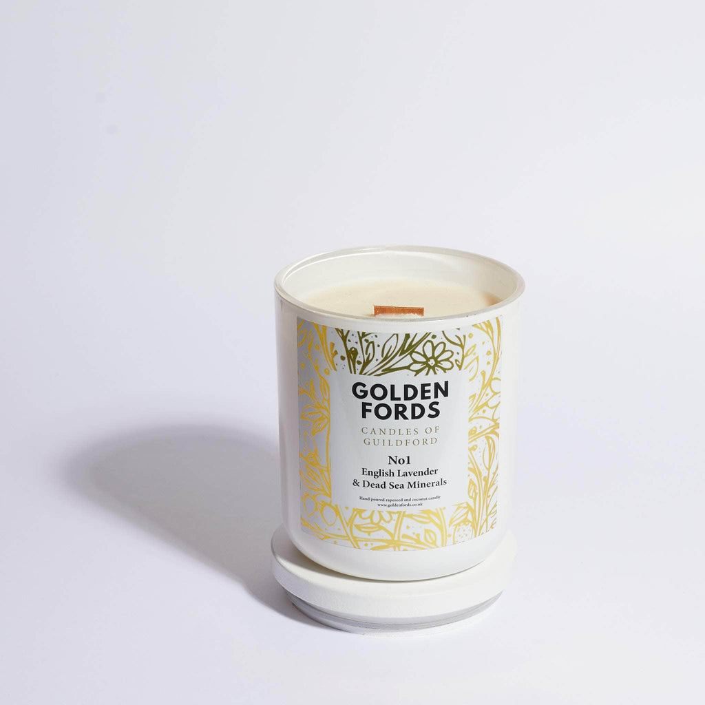 English Lavender wood wick candle