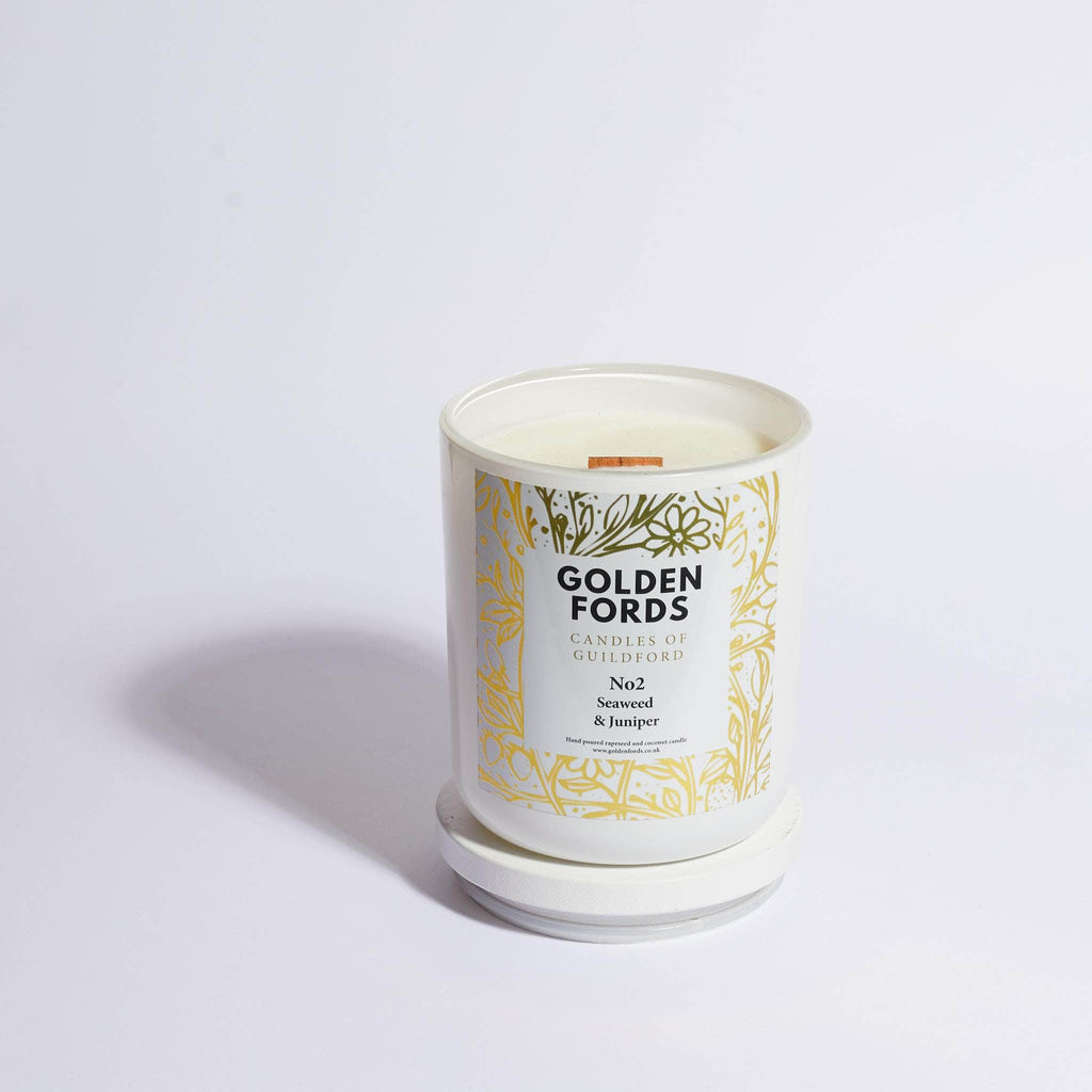 Golden Fords Candle Seaweed & Juniper - 400g Candle