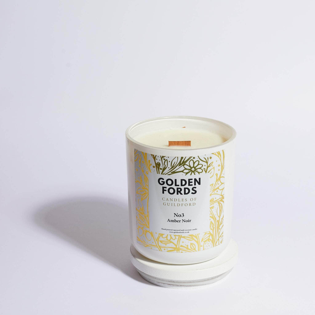 Amber Noir Wood Wick Candle