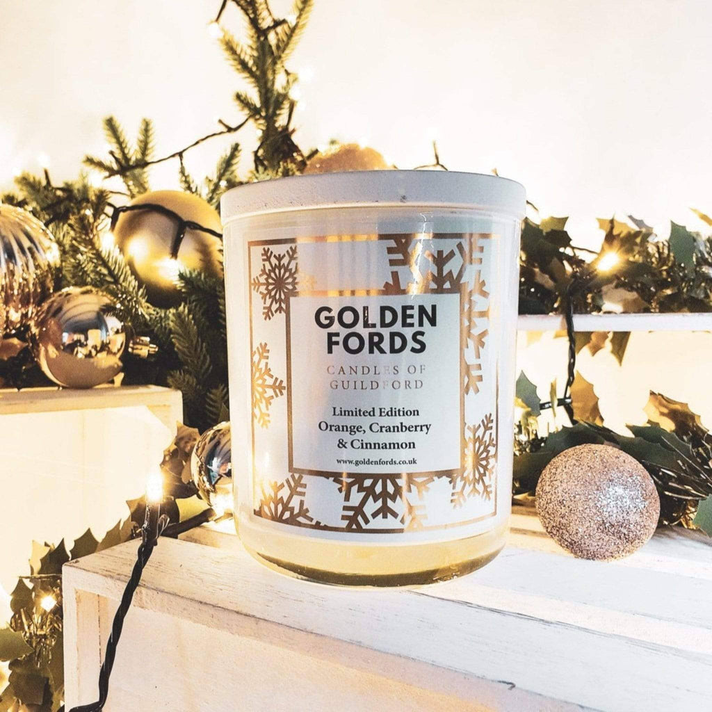 400g wood wick winter christmas candle
