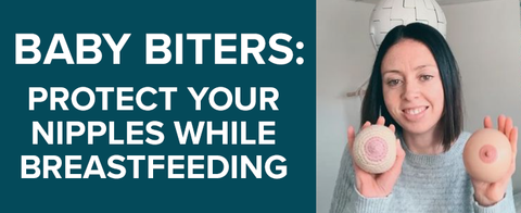 Stop baby from biting while breastfeeding. there are many causes for baby biting while breastfeeding but it can be hard to stop them from biting your nipples. Heal your sore nipple and protect them from baby biting