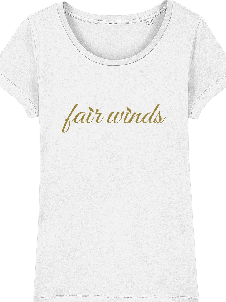 Fair Winds Gold Slogan T-Shirt