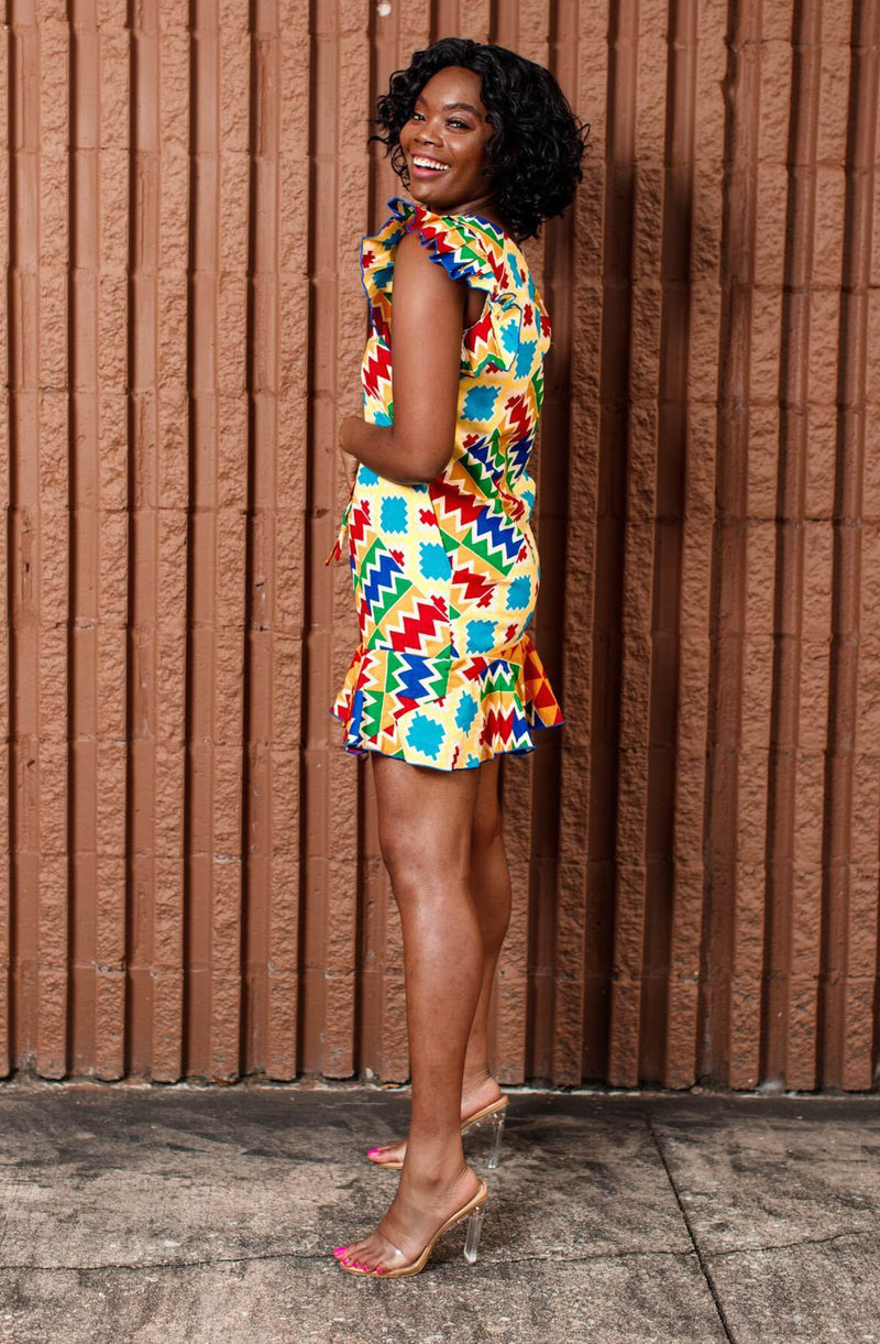 Latu Bold Kente Mod Dress