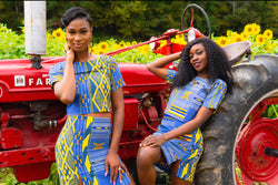 Blue Kente  mini 2pc