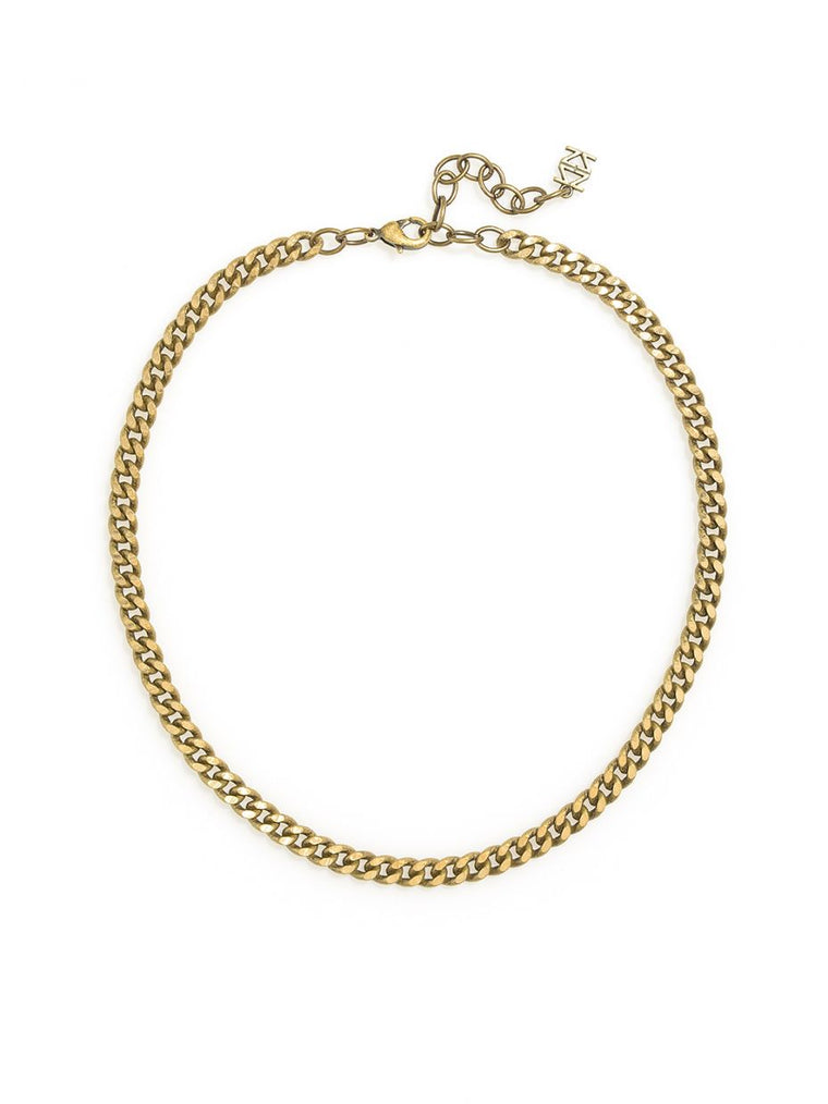 The B Ridge Necklace l Burnished Gold