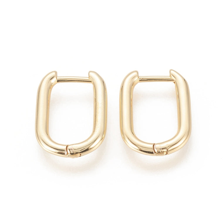 Lucia Huggie Earrings | 18k Gold