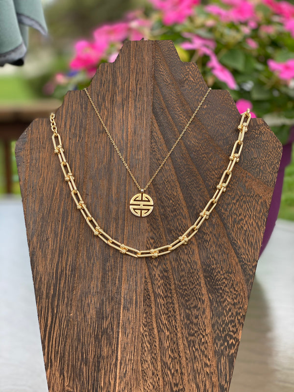 Linked Up Necklace-Necklace-Southern Bale