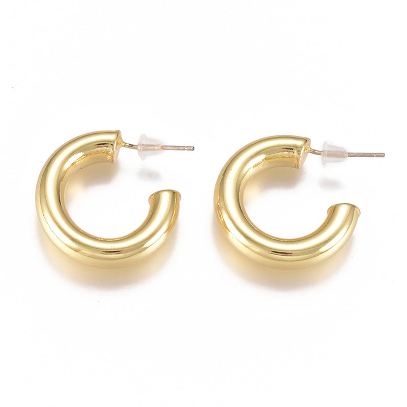 Peyton Petite Hoop Earrings | 18k Gold Plated-Earring-Southern Bale