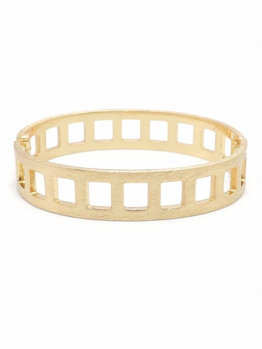 Film Roll Bangle | Matte Gold
