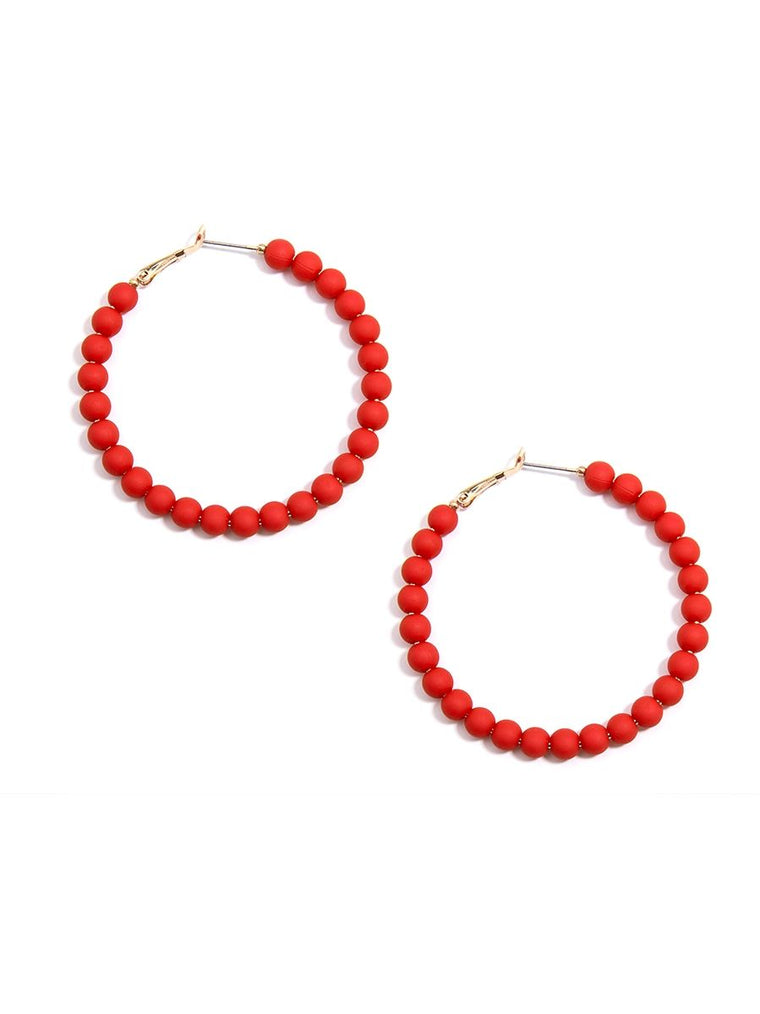 Bead Around the Hoop Earrings | Flame