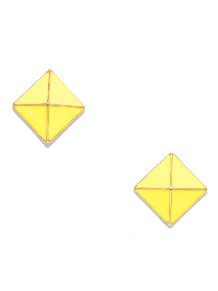 The Great Pyramid Earrings  | Yellow