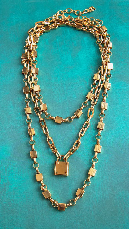 Locked In Time Necklace-Necklace-Southern Bale