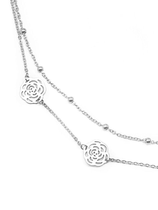 Kiss Upon a Rose Necklace | Silver or Gold-Necklace-Southern Bale