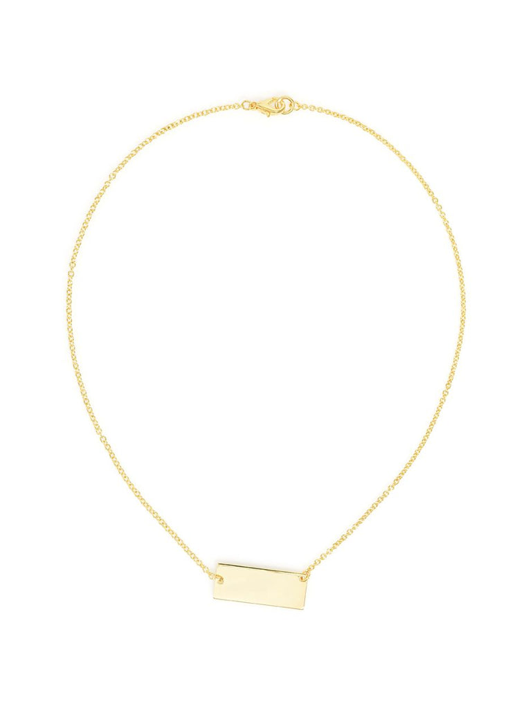 Tag Me Im It Necklace | Gold