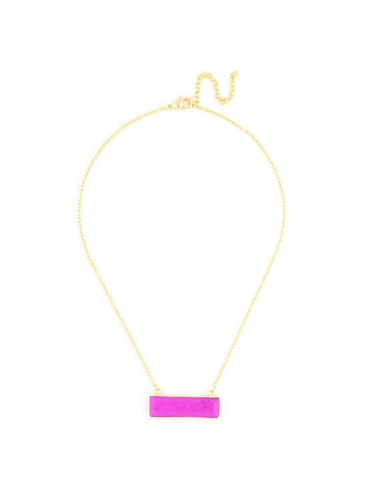 Marbled Pendant Gold Chain Necklace