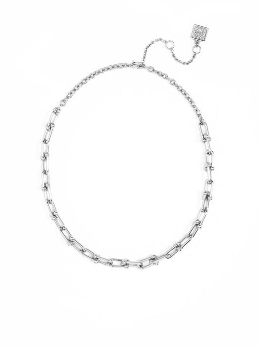 Linked Up Necklace | Silver-Necklace-Southern Bale
