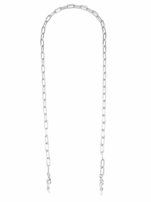 Paperclip Lanyard | 18K White Gold-Necklace-Southern Bale
