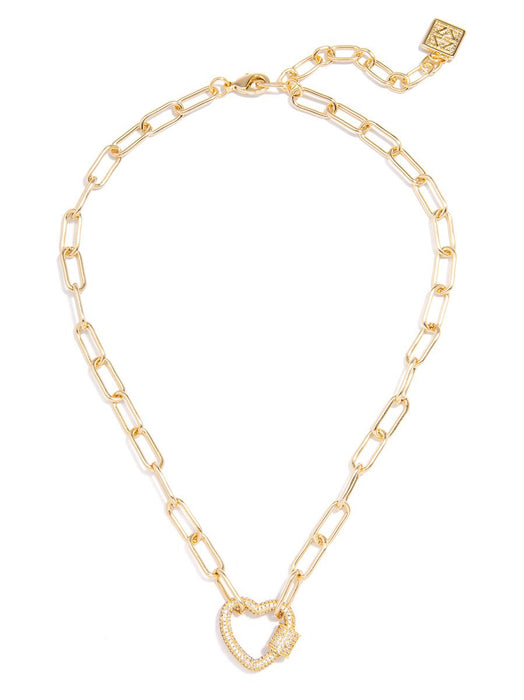Riley Pavé Heart Necklace-Necklace-Southern Bale