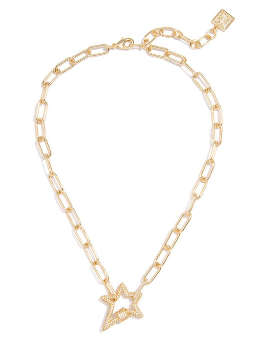 Hazel Pavé Star Necklace-Necklace-Southern Bale