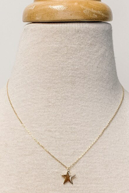 The Juliet Star Necklace | 18K Gold-Necklace-Southern Bale