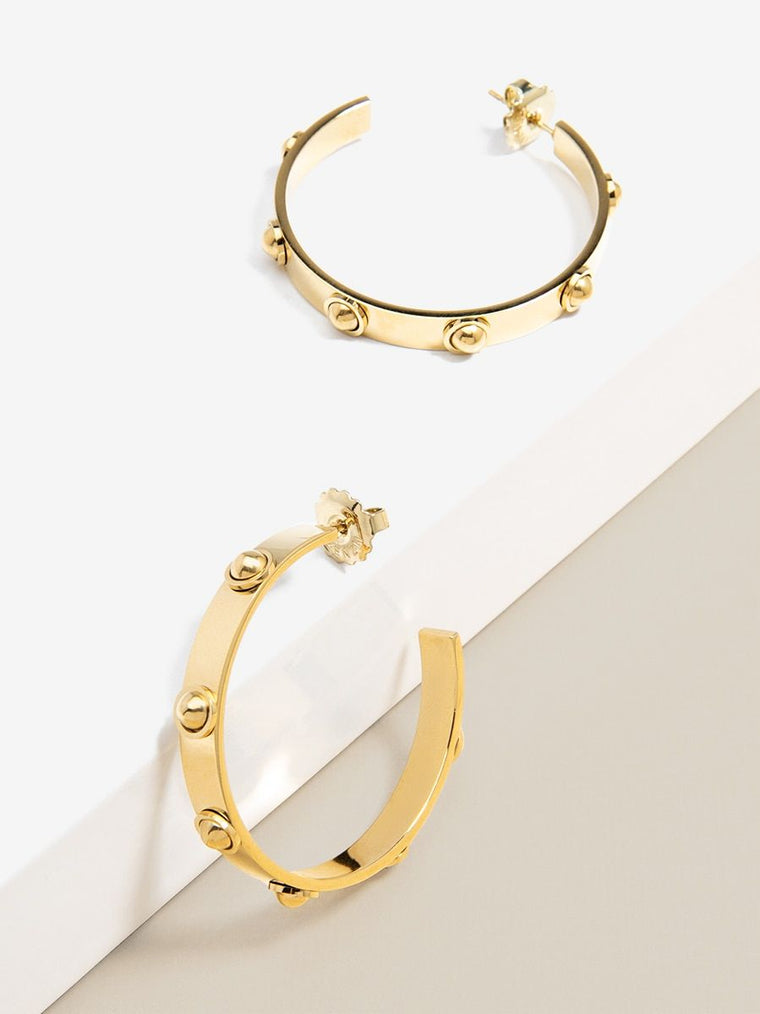 Nuts & Bolts Hoop Earrings | Gold