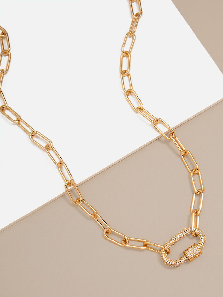 Zoey Pavé Link Necklace | Clear Stones
