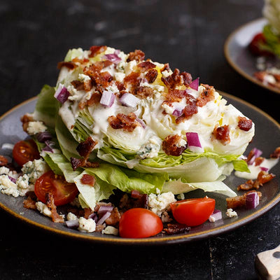 (Hot Food) Wedge Salad with Blue Cheese
