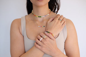Girl wearing fashion jewelry