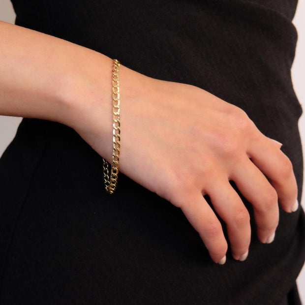 "Saffy Jewels Bracelets 10K Gold Curb Chain Bracelet Yellow / 8"" BG1002520"
