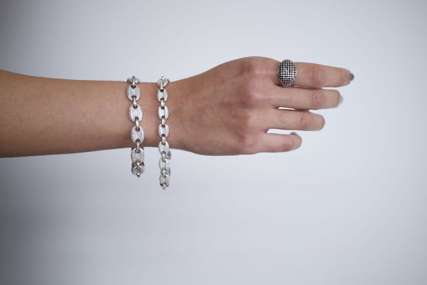 "Saffy Jewels Bracelets Ooogee Gigi Bracelet White / Small / 8"" BGW0200_4"