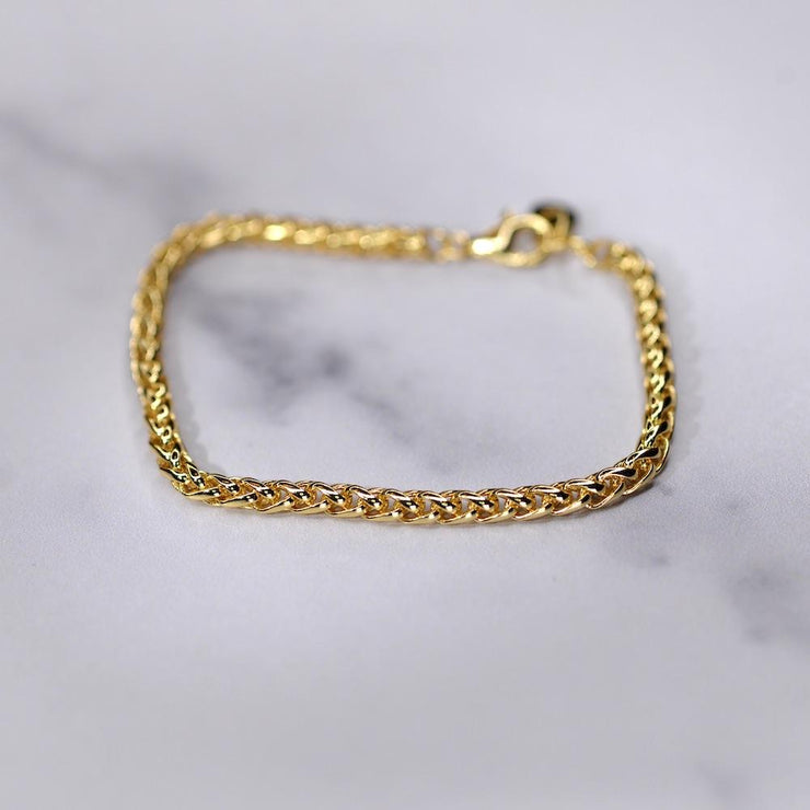 "Saffy Jewels Bracelets Spiga Gold Bracelet Yellow / 7"" BGN01180"
