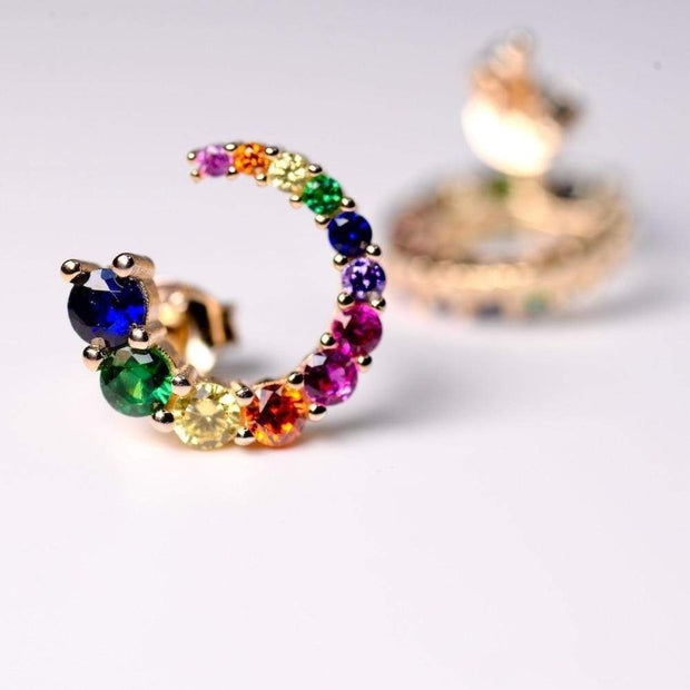 Saffy Jewels Earrings Colorful Studs Earring Multi/Yellow EGW018041