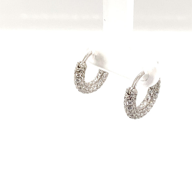 Saffy Jewels Earrings Disco Chubby Huggie Earring White EGW0026020900_2