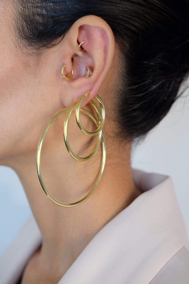 Saffy Jewels Earrings Hailey Hoops
