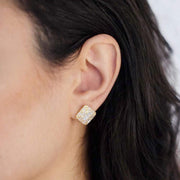 Saffy Jewels Earrings Iced Baguette Studs Earring