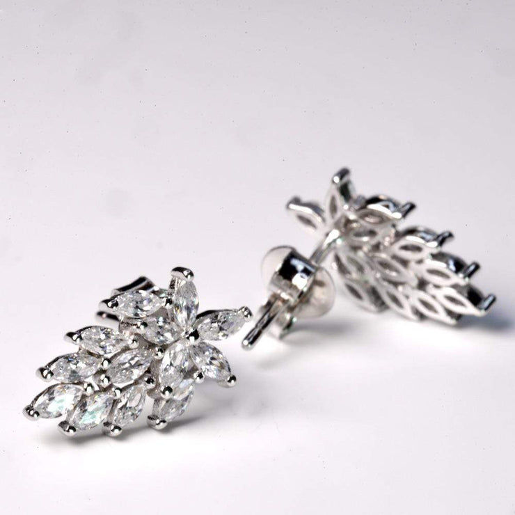 Saffy Jewels Earrings Leaf CZ Studs Earring White EPW0060110