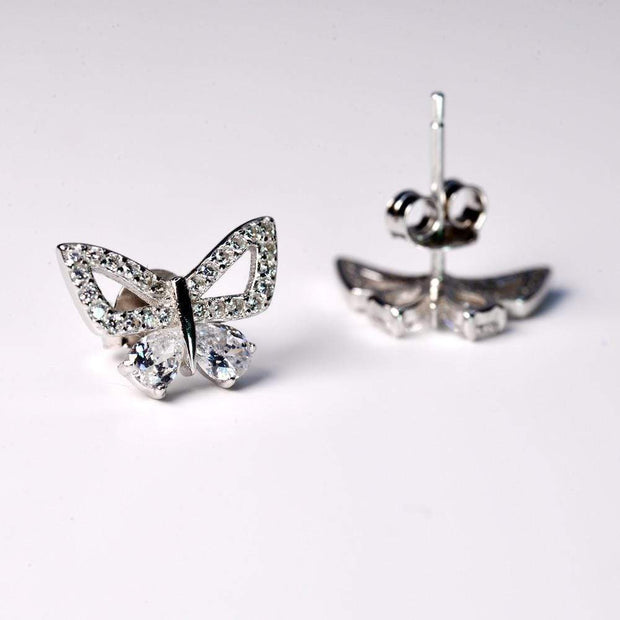 Saffy Jewels Earrings Little Butterfly Studs Earring White EPW005110