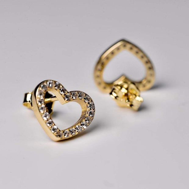 Saffy Jewels Earrings Pave Heart Studs Earring