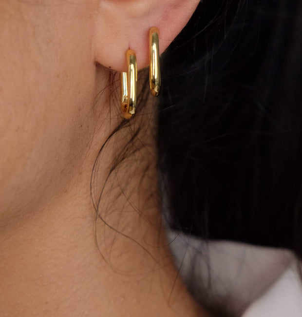 Saffy Jewels Earrings Rectangle Mini Hoops Yellow EGN0320208_1