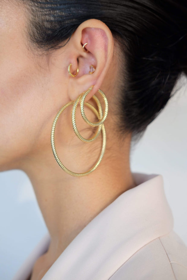 Saffy Jewels Earrings Rihanna Hoops