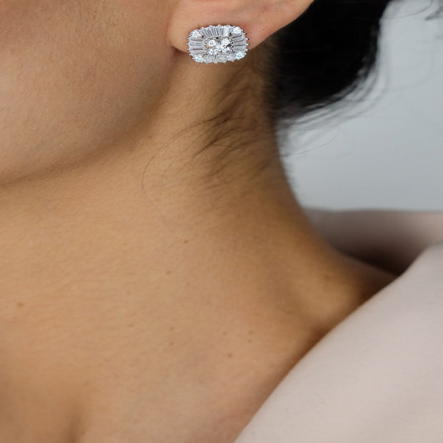 Saffy Jewels Earrings Royal Square Stud Earring Silver ESC017030400_1