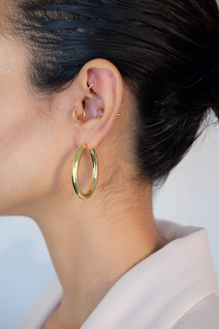 Saffy Jewels Earrings Sade Hoops Yellow / Oval EGN0320300_1