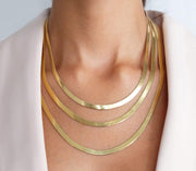 Saffy Jewels Necklaces Cut Diamond Herringbone Necklace