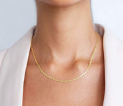 "Saffy Jewels Necklaces Dainty Mariner Chain Yellow / 16"" NGN02104040_1"