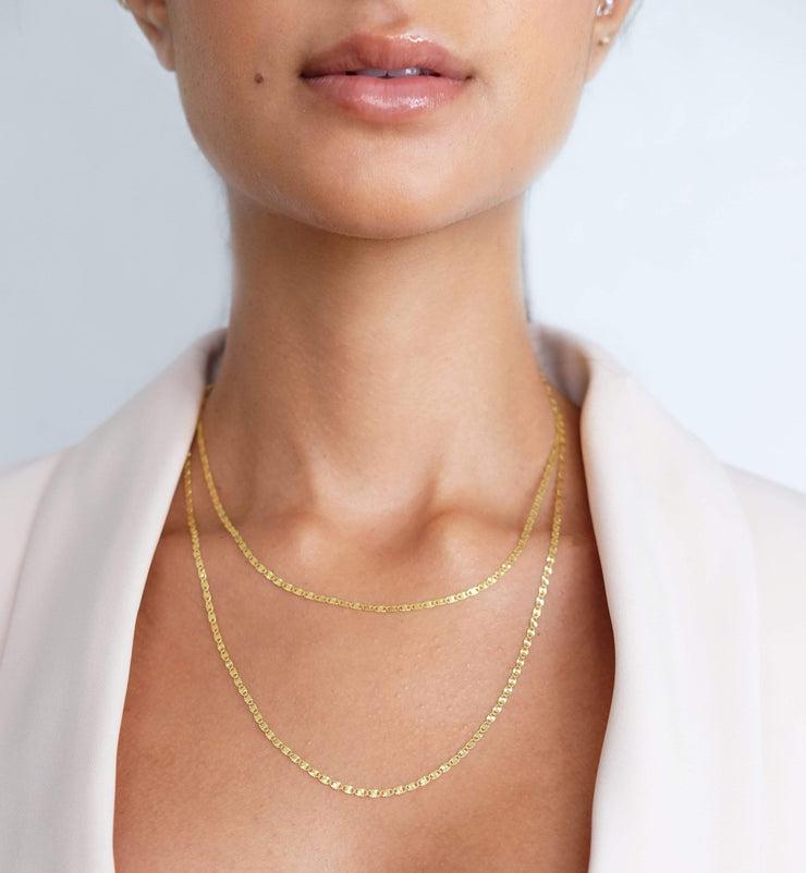 "Saffy Jewels Necklaces Dainty Mariner Chain Yellow / 20"" NGN02104040_3"