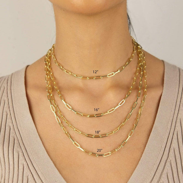 "Saffy Jewels Necklaces Layla Paperclip Chain Yellow / Large Wt. / 18"" NGN019050_7"